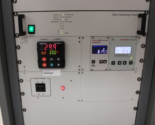 front panel of Delta P Model 410 Getter Sorption Analyzer