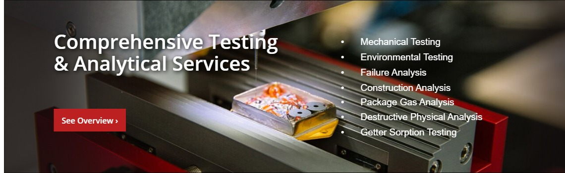 Comprehensive testing & analytical services