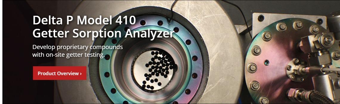Delta P Model 410 Getter Sorption Analyzer